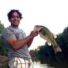 Fishing for large mouth bass