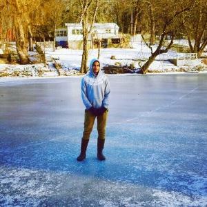 frozen creek Jan' 2015